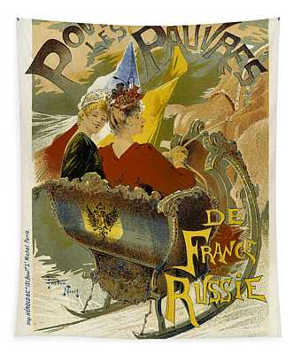 Pour Les Pauvres Vintage French Advertising Tapestry