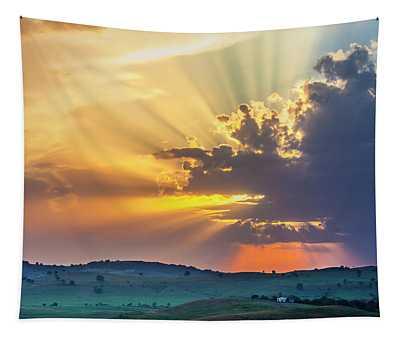Powerful Sunbeams Tapestry