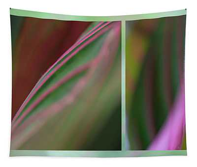 Prayer Plant Abstract Tapestry