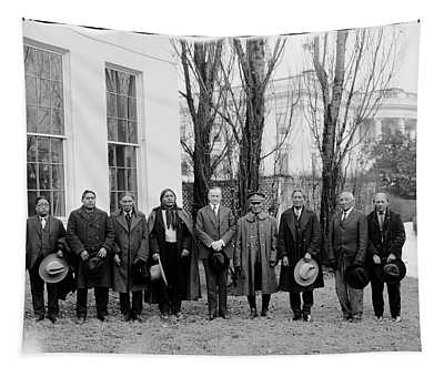 President Coolidge With Delegation Tapestry