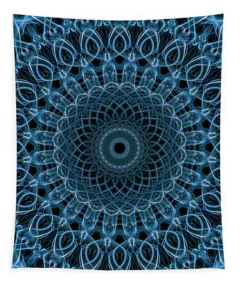 Pretty Blue Mandala Tapestry