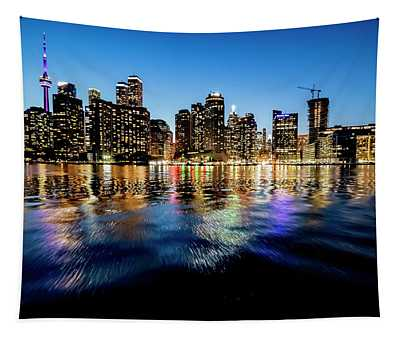 Pretty Blue Skies In Toronto This Evening Tapestry