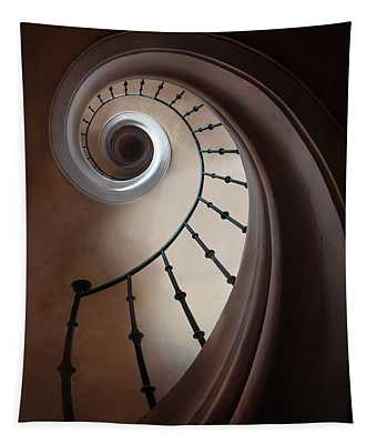 Tapestry featuring the photograph Pretty Brown Staircase by Jaroslaw Blaminsky