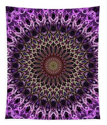Pretty Mandala In Pink And Cream Tones Tapestry