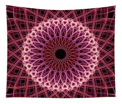 Pretty Mandala In Red And Creamy Colors Tapestry