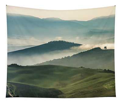 Tapestry featuring the photograph Pretty Morning In Toscany by Jaroslaw Blaminsky