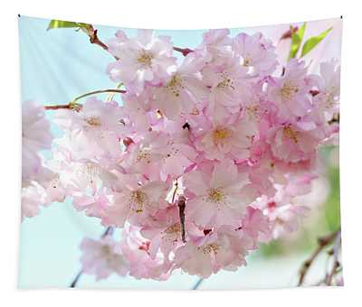 Pretty Pink Blossoms Tapestry