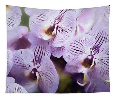 Pretty Purple Petals Abstracted 8 Tapestry