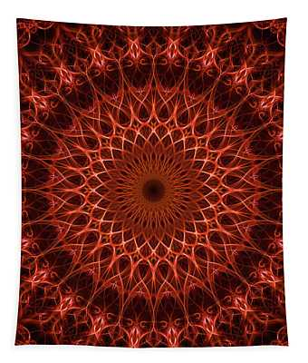 Pretty Rich Red Mandala Tapestry