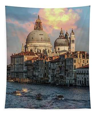 Tapestry featuring the photograph Pretty Sunrise In Venice by Jaroslaw Blaminsky