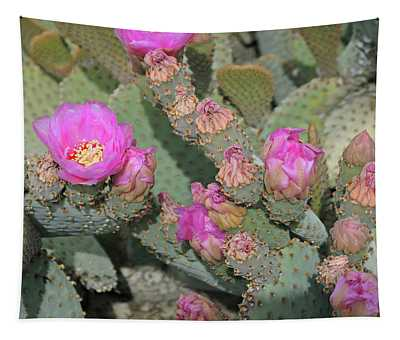 Prickly Pear Profusion 3 Tapestry