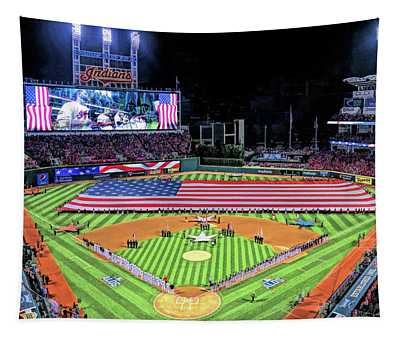 Progressive Field Cleveland Indians Tapestry