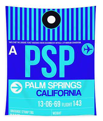 Psp Palm Springs Luggage Tag II Tapestry