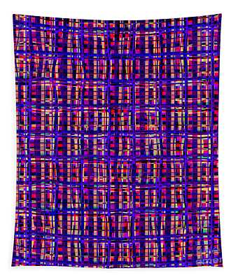 Psychedelic Art In Chaotic Visual Colors And Shapes - Ddf620 Tapestry