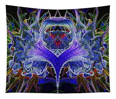 Psychedelic Sunflower Mandela Tapestry