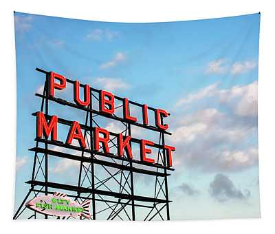 Public Market By Day Tapestry