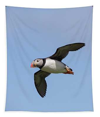 Puffin Flyby Tapestry