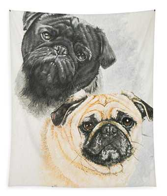 Pug Brothers Tapestry