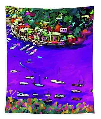 Purple Cove Tapestry