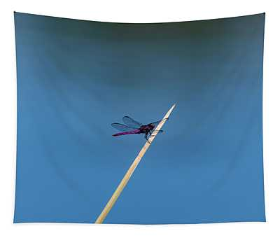 Purple Dragonfly Tapestry