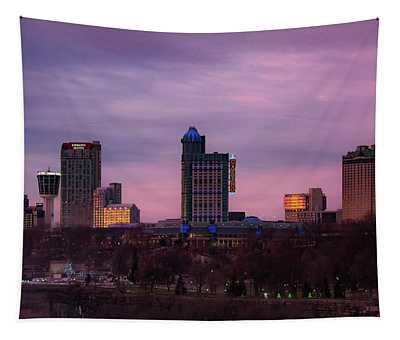 Purple Haze Skyline Tapestry
