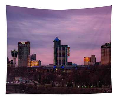 Purple Haze Skyline Tapestry