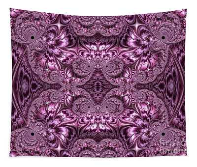 Purple Lilac Gardens And Reflecting Pools Fractal Abstract Tapestry