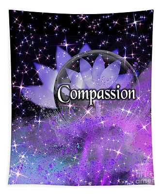 Purple Lotus Compassion  Tapestry