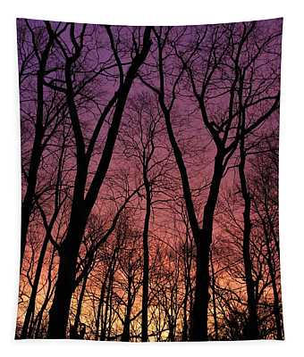 Purple Orange Sky Tapestry
