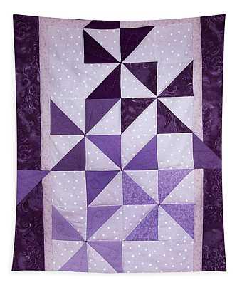 Purple Pinwheels Pirouetting Tapestry