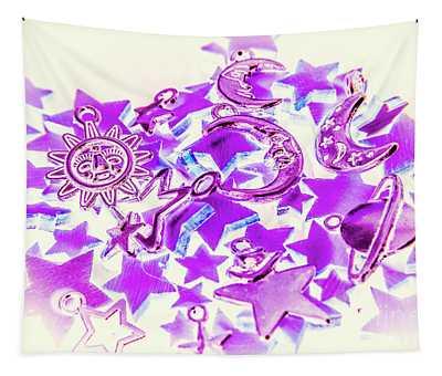 Purple Planetarium Tapestry