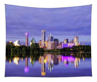 Purple Rain City Of Dallas Texas Tapestry