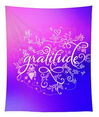 Purply Pink Gratitude Tapestry