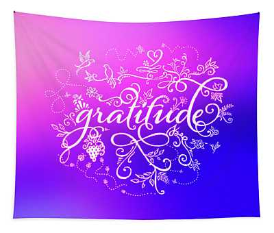 Purply Pink Gratitude Tapestry