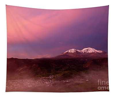 Putre And Nevados De Putre At Sunset Chile Tapestry