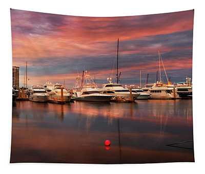 Quiet Evening On The Marina Tapestry