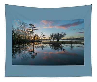 Quiet River Sunset Tapestry