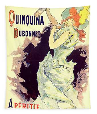 Quinquina Dubonnet 1896 Vintage French Advertising Tapestry