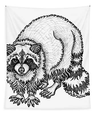 Raccoon Tapestry