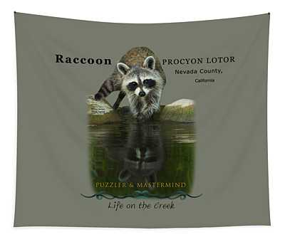 Raccoon Puzzler And Mastermind Tapestry