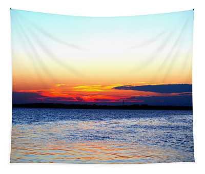 Radiant Sunset Tapestry
