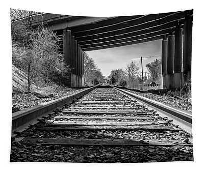 Railroad Tracks Tapestry