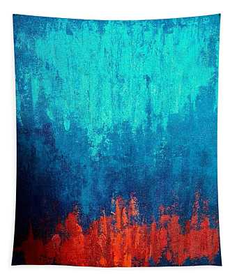 Rain On Fire Tapestry