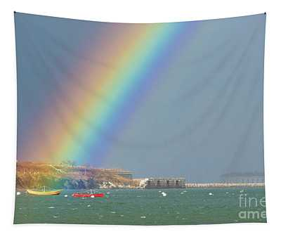 Rainbow At Spring Point Ledge Tapestry