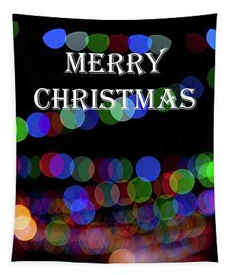 Rainbow Bokeh - Merry Christmas II Tapestry