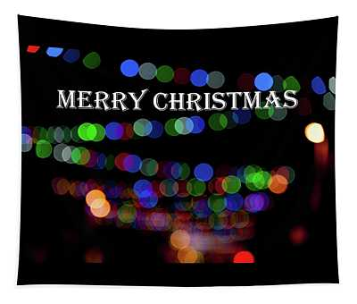 Rainbow Bokeh - Merry Christmas IIi Tapestry