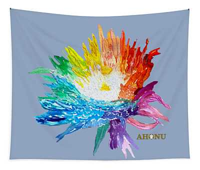 Rainbow Chrysanthemum Tapestry