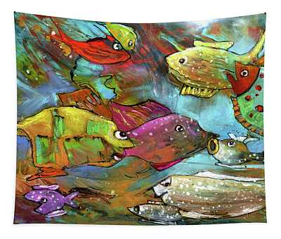 Rainbow Fishes 02 Tapestry
