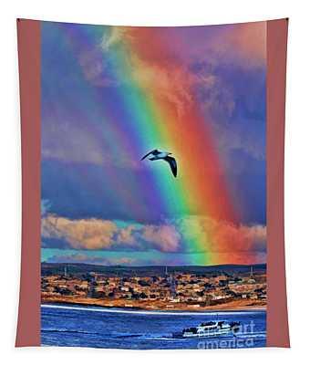 Rainbow Over Monterey Bay Tapestry