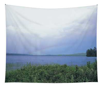 Rainbow Over Raquette Lake Tapestry